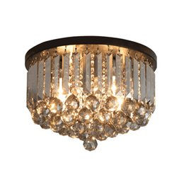 $enCountryForm.capitalKeyWord Australia - Modern minimalist creative smoky gray crystal chandelier lights attractive corridor aisle lamps black ceiling plate ceiling porch lightings