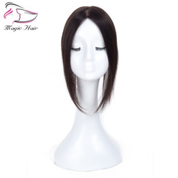 Chinese  2.5X5 Natural Black Remy Human Hair Topper For Women Free Part Clip in Toupee Real Remy Human Hair Toupee manufacturers