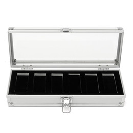 Wholesale Cymii Grid Insert Slots Watch Box Case Jewelry Watches Box Organizer for Rings Bracelet Display Holder Case