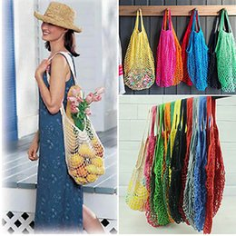 $enCountryForm.capitalKeyWord NZ - Eco-friendly Shopping Bags Fruit Vegetables Foldable Mesh Net String Cotton Shoulder Bag Hand Totes For Kitchen Sundries JHH7-1204