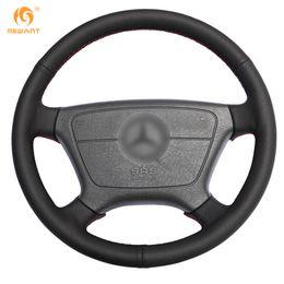 Genuine Leather Steer Covers Australia - MEWANT Black Genuine Leather Car Steering Wheel Cover for Mercedes Benz E-Class W210 E 200 240 280 320 1995-2002 W140 S320 350 420