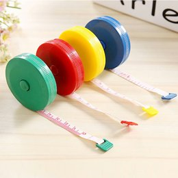 Wholesale 1 M Mini Tape Measures Practical Plastic Automatic Retractable Ruler Double Side Scale Household Tapes Easy To Carry yd Y