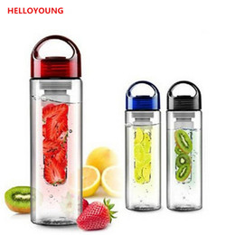 infuse bottle Australia - Preference Fruit Infuser Infusing Drinking water bottle Lemon bottle Fruit Juice maker bike travel bottles BPA Free 700ml Drinkware