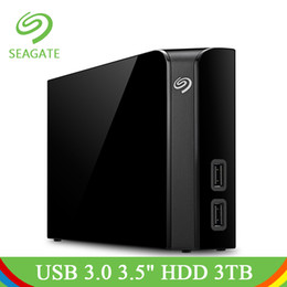"Discount seagate hard - Seagate Backup Plus Desktop Drive USB 3.0 3.5"" 3TB Portable External Hard Drive HDD Black 7200rpm Hard Disk For Com"