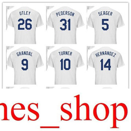 58508e0a007 Custom any name Men women youth  5 Corey Seager  9 Yasmani Grandal 10  Justin Turner 23 Adrian Gonzalez 14 Enrique Hernandez Baseball Jersey