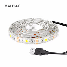 usb charger cable dc Australia - SMD 5050 USB Charger Power LED Strip DC 5V USB Cable LED String Decoration lamp Tape TV Bias Backlight lighting 1M 2M 3M 4M 5M