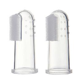 $enCountryForm.capitalKeyWord NZ - new Soft Safe Baby Kids Fashion Baby Items Children Teeth Clear Massage Soft Silicone Baby Finger Toothbrush