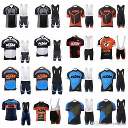 team sports bibs Canada - KTM team Cycling Short Sleeves jersey (bib) shorts sets Breathable quick dry Outdoor Sports men Clothing D1332