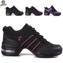 Jazz dancing shoes online shopping - Square dance shoes koudyen plus size women breathable jazz shoes sports fitness sneakers