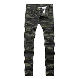 $enCountryForm.capitalKeyWord UK - Fashion Men Hip-hop Jeans Motorcycle Patchwork Camouflage Slim Fit Skinny Biker Jeans Denim Straight With Multi Zipper Pants