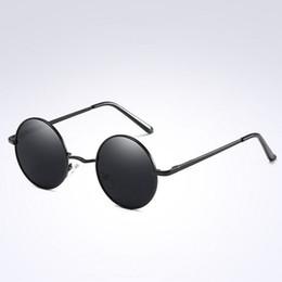 466018e1ecc Lennon Vintage Small Size Hippie Round Polarized Lens Sunglasses For Men  Women Circle Metal Frame Classic Glasses Eyewear