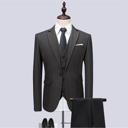 Mens skinny black dress pants online shopping - Jacket Vest Pants Men Suits Fashion Party dresses Men s Slim Fit business Classic grey Wedding suit big full size mens wedding suits