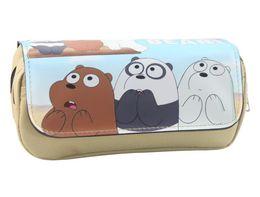 $enCountryForm.capitalKeyWord Australia - anime Cartoon Bear Pencil Purse Kids Multifunctional Double Large Capacity Pen Pouch Bags Leather Canvas Cosmetic Makeup Bag