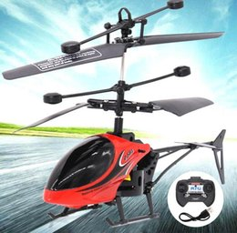 Helicopter Toy Remote NZ - 2-channel remote control mini aircraft with LED lights fall resistance remote control helicopter children model toy aircraft