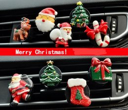 Discount car scents wholesale - Christmas Car Air Freshener Cute Cartoon Perfume Clip Auto Outlet Scent Diffuser Aroma Smell Air Purifier