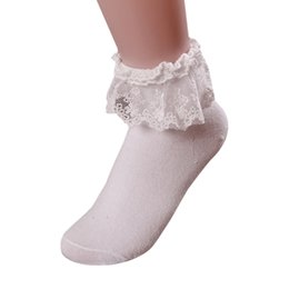 vintage lace socks UK - 36PAIRS LOT women Vintage Lace Ruffle Short Sock Women Hot Sale Lady Elegant Fashion Cotton Socks Femme
