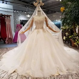 short wedding dresses veils UK - Special Strapless Wedding Party Bride Dress 2019 Newest Design Wedding Dresses With Veil Floor Length Or 100cm Train Wedding Gown