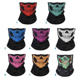 Bicycle Black Ghost Australia - Bicycle Cycling Ski Skull Half Face Mask Ghost Scarf Multi Use Neck Warmer
