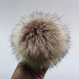 Artificial Chains Wholesalers Australia - Anti compression Artificial Polyester Fur Pom pom For Knitted Beanies Skullies Faux Fur Ball For Bags Key Chain Accessories