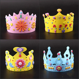 Nice 3d Eva Handmade Birthday Crown Adjustable Diy Hat Princess Crown Craft Children Gifts Puzzle Toys Birthday Party Decoration Tool Organizers