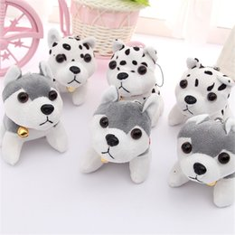 $enCountryForm.capitalKeyWord NZ - Kawaii Puppy Toys Keychain Husky Plush Toys Pendant Spotty Dog Stuffed Animal Plush Toy Key Chain for Children Christmas Gifts
