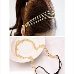 $enCountryForm.capitalKeyWord NZ - New Fashion Women's Multilayer Alloy Tassel Chain Jewelry Hair Hoop Headpiece Hair Band Wholesale