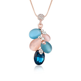 Water drop Pendant Necklace For Women Metal suspension Jewelry chain trinket  statement necklace pendants for friends be6a92ee3034