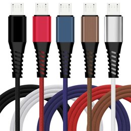 Cloth braided online shopping - Fabric Cloth Type c Micro Usb cable m ft Quick charging Braided Alloy usb cables for samsung s7 s8 s9 note htc android phone