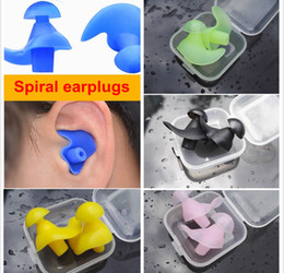 Wholesale Boxes Packaging Australia - New Soft Silicone EarPlugs Sound Insulation Waterproof Earplugs for Adult Anti-noise for Swimming Diving Noise Reduction Box Packaging