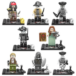 $enCountryForm.capitalKeyWord NZ - Caribbean 5 Mini Pirate Action Figure Captain Jack Sparrow Henry Lieutenant Lesaro Captain Salazar Officer Magda Figure Building Blocks Set