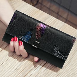 leather cell phone patterns 2019 - Vintage Woman Cover Genuine Leather Long Wallet New Travel Cow Leather Flower Pattern Solid Color Fashion 3fold Day Clut