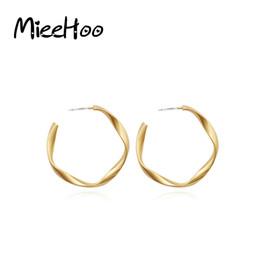 big hop earrings 2019 - Mieehoo Golden Ladies Big Circle Hoop Studs Street Dance Club Hoop Earrings Earrings Hip-Hop Wholesale Round discount bi