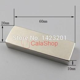 Neodymium N52 Block Magnet Australia - One pcs 60x20x10 Magnets Block Neodymium N52 Disc Rare Earth Super Strong Fridge Magnet