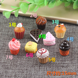 Cupcakes Mix Australia - 15mm Mix DIY 3D Resin cake cupcake charms simulated imitation fake food kawaii craft jewelry making ornament decoration