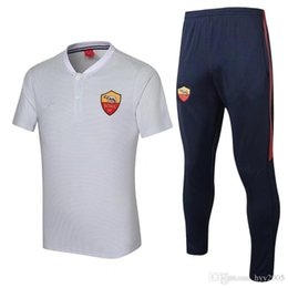 China top quality 2017 18 TOTTI white Short sleeve sweater tracksuit NAINGGOLAN training Suits Trackring suits supplier short sleeve sweaters men suppliers