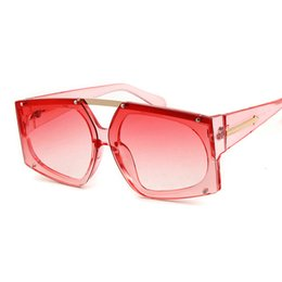 $enCountryForm.capitalKeyWord NZ - Lucky Lion Fashion Oversized Square Sunglasses Women Men Mirror Flat top Big Glasses Brand Designer Sun Glasses for Female