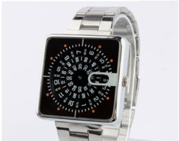 Alloy steel products online shopping - 2018 new product exquisite square unique design dial