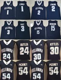 ee204c8d8bca Villanova Wildcats Jerseys College Basketball 1 Kyle Lowry 2 Kris Jenkins 3  Josh Hart 15 Ryan Arcidiacono 30 Kerry Kittles 54 Ed Pinckney