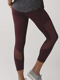 Black leggings designs online shopping - Non see through Atheltics legging Mesh Design Women Capris Sports Elastic Fitness Leggings Slim Running Gym Pants Size
