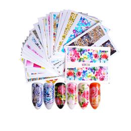 Pattern Decor Australia - 2018 TOP Pattern Printed Nail Decals Environmental Friendly Nail Art Stickers Full Decor DIY Tip Tools