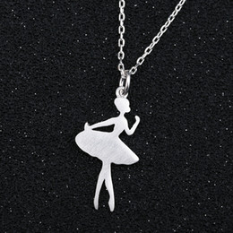 ballerina gifts wholesale NZ - whole saleSMJEL Chain 2017 Ballerina Necklace Wonder Women Ballet Pendants Necklaces Dancers Accessories Jewelry Girl Party Gifts SYXL064