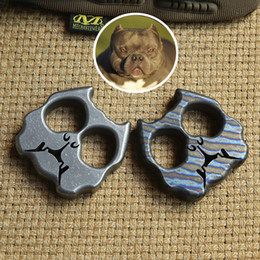 Punching ring online shopping - DICORIA Bully dog double ring TC4 Titanium punch daggers outdoor Buckle EDC Survival Knuck knuckles Multi tools