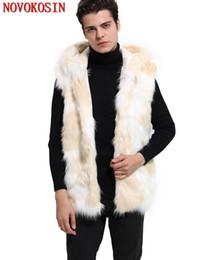 $enCountryForm.capitalKeyWord Canada - SC216 3XL 2018 Men Faux Fur Cardigan Thick Coat With Hat Winter Warm Plus Size Open Stitch Outerwear Yellow White Slim Vest