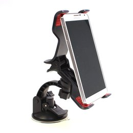 Discount car accessories gps holders - Car GPS Stand with Suction Cup Windshield Big Clipper Smart Phone Mobile Mount Holder Great Gift for Car Interior Access