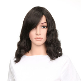 $enCountryForm.capitalKeyWord UK - Short Wavy Bob Natural Color Layered Synthetic Lace Front Wig Heat Resisitant for Woment Hot Selling Inexpensive Free Shipping