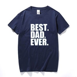 Best Dad Ever Printed Mans T Shirt Fathers Day Gift Funny Birthday Present For Daddy Father Men Husband Pappa Geek