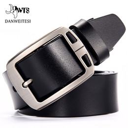 dark grey jeans for men NZ - [DWTS]Cow leather belt men male genuine leather strap belts for men buckle fancy vintage jeans cintos masculinos ceinture homme D18102905