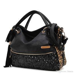 92533a64f3ab Modern handbags online shopping - Modern Fashion Casual Leopard Tassels Handbag  Women Paillette Messenger Bag Jn14