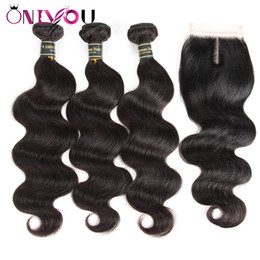 24 inch wet wavy human hair online shopping - Peruvian Virgin Body Wave Hair Weaves Closure with Bundles Wet and Wavy Body Weave Hair Extenisons Peruvian Human Hair Bundles