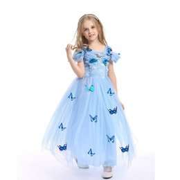 China 2019 kids clothes Halloween Children's Clothing Cinderella Princess Skirt Girl Tutu Skirt Romance Performance Costume Dress suppliers
